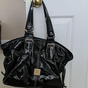 Dooney & Bourke Black Patten Leather Handbag